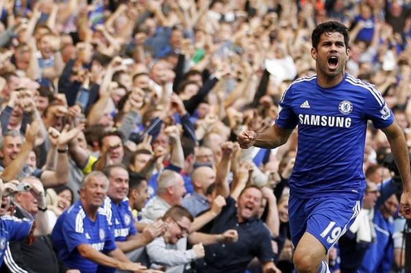 Diego Costa akhirnya mencetak gol lagi ketika Chelsea menekuk Hull City dengan skor 2-0 (1-0) pada pekan ke-16 Premier League 2014/2015 di Stamford Bridge, Sabtu (13/12) malam WIB. Foto: Ian Kington/AFP Photo via JPNN