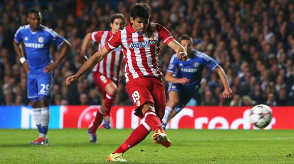 Diego Costa cetak gol kedelapan di Liga Champions. Getty Images