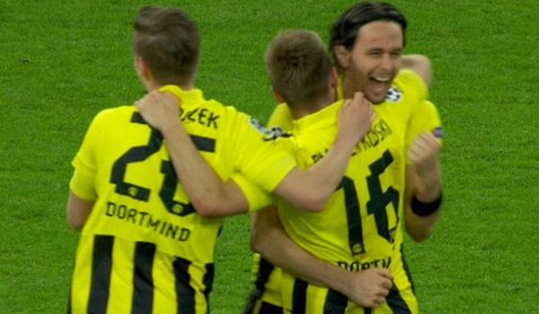 Selebrasi pemain Borussia Dortmund usai mengalahkan Real Madrid. Getty Images