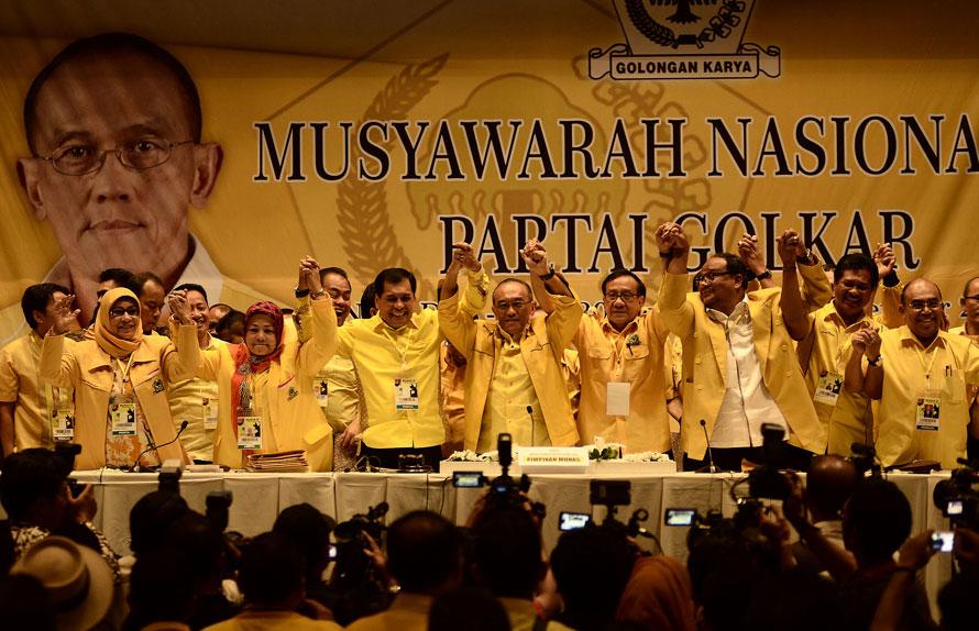 Pengurus DPP Golkar versi Munas Bali. Foto Jawa Pos/pojoksatu.id