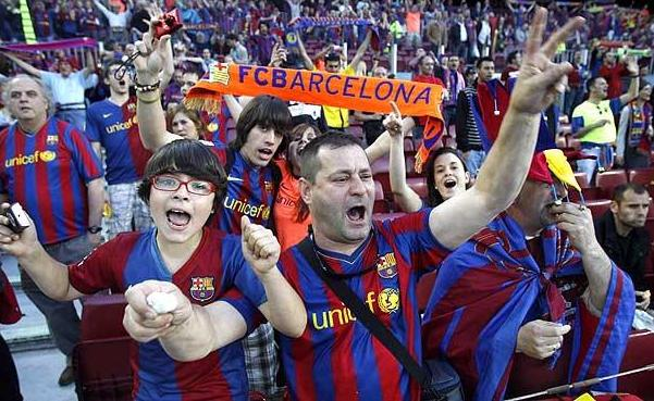 Suporter Barcelona. Foto: getty images