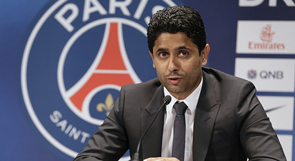 Presiden PSG, Nasser Al Khelaifi. Foto: PSG
