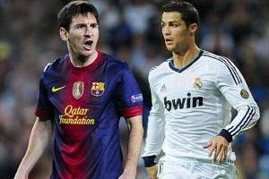 Lionel Messi dan Cristiano Ronaldo. Foto: AFP