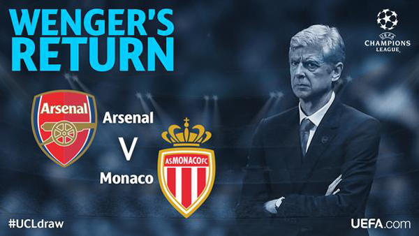 Arsenal senang hanya jumpa Monaco.