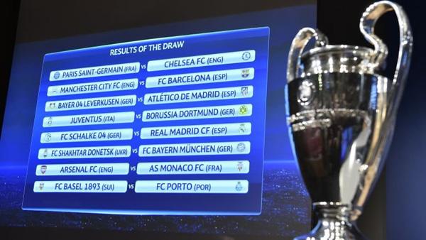 Hasil drawing 16 Besar Liga Champions. Foto: uefa