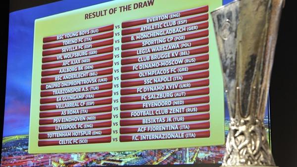 Hasil undian 32 besar Europa League.