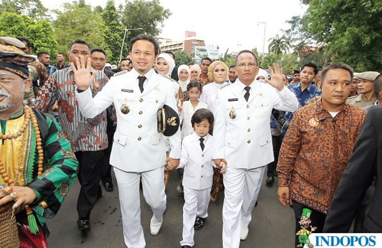 Walikota Bogor Bima Arya dan wakilnya Usmar Hariman