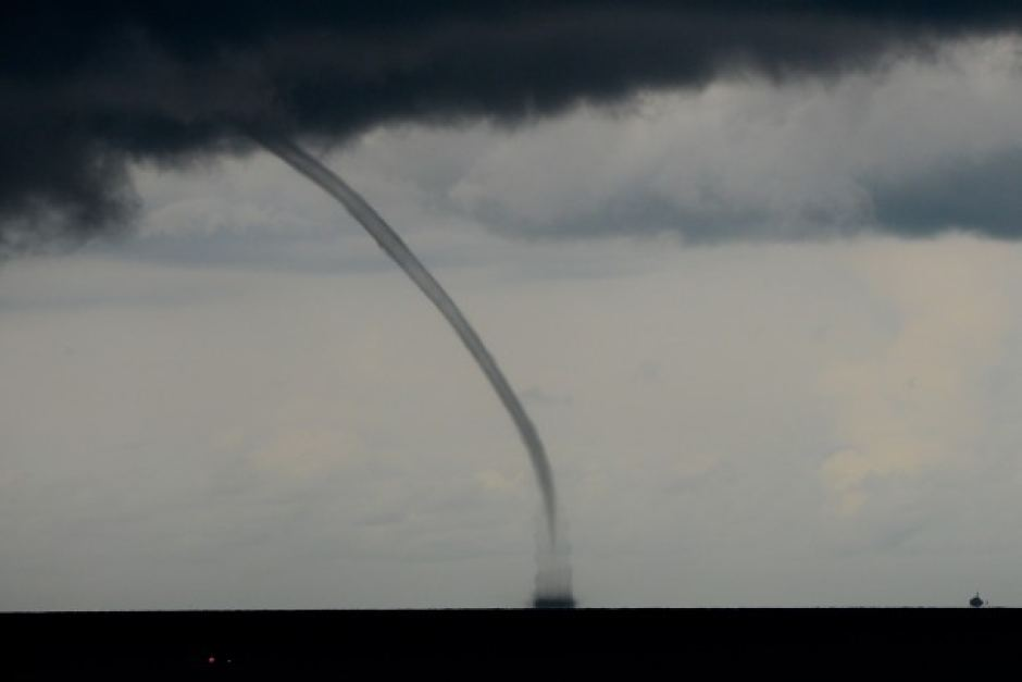 A waterspout off the coast of Darwin