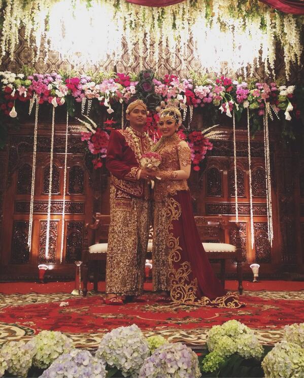 foto Maissy saat menikah