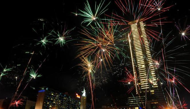 Perayaan tahun baru 2015 di Ancol, Jakarta