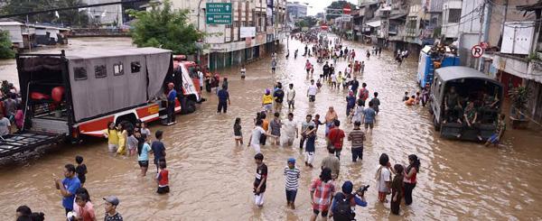 Banjir di Jakarta beberapa waktu lalu