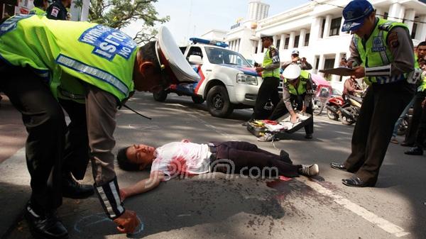 Ilustrasi kecelakaan lalulintas
