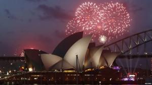 Perayaan tahun baru di Sidney