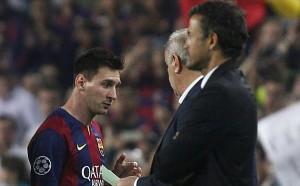 Lionel Messi (kiri), bersitegang dengan Luis Enrique (kanan). Foto: dok.jpnn