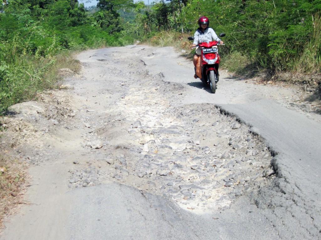 Kondisi jalan Kabupaten Cianjur