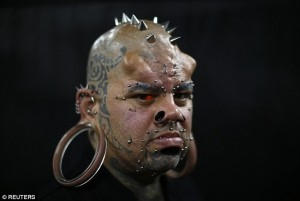 Salah satu peserta pameran iblis di Venezuela