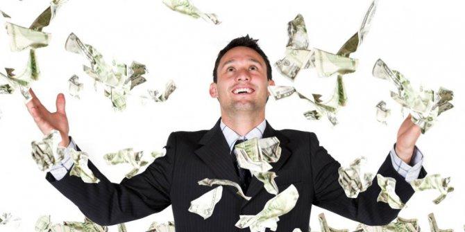 Ilustrasi, miliader, kaya raya, mandi uang, uang, bisnis, pemuda bisnis, sukses