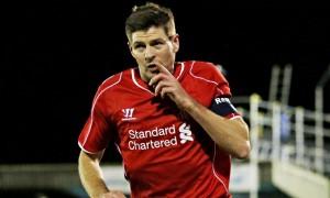 Steven Gerrad, pahlawan kemenangan Liverpool atas Wimbledon di babak ketiga FA Cup, Selasa (6/1) dinihari.