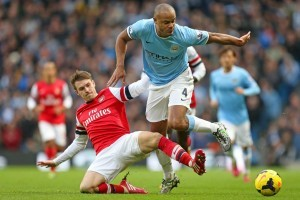 Jelang duel Manchester City vs Arsenal.