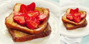 Ilustrasi Gambar Roti Bakar Spesial dengan Sirup Maple