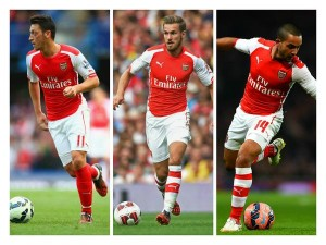 Tiga pilar Arsenal yang baru sembuh dari cedera. Ozil, Ramsey dan Walcott.
