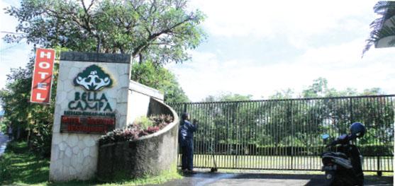 SEPI: Suasana Hotel Bella Campa milik M Herviano, putra Kapolri Terpilih, Komjen Budi Gunawan di Gadog, Ciawi, Kabupaten Bogor, memilih tutup saat santer diberitakan.