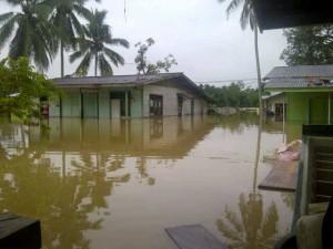 Salah satu desa di Nunukan tenggelam akibat banjir kiriman dari Malaysia