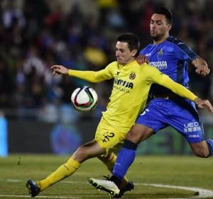 Laga erpempat final Copa Del Rey leg kedua, Getafe lawan Villareal, 0-1, Jumat (30/1) dinihari tadi WIB.