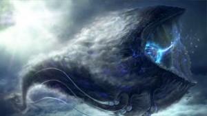 ilustrasi jin di laut