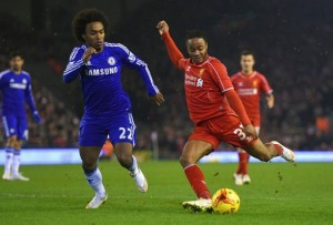Raheem Sterling menyelamatkan Liverpool dari kekalahan, pada les pertama semifinal Capital One Cup, Rabu (21/1) dinihari tadi.