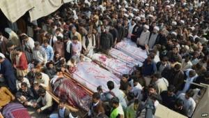 Korban bom masjid dikubur massal