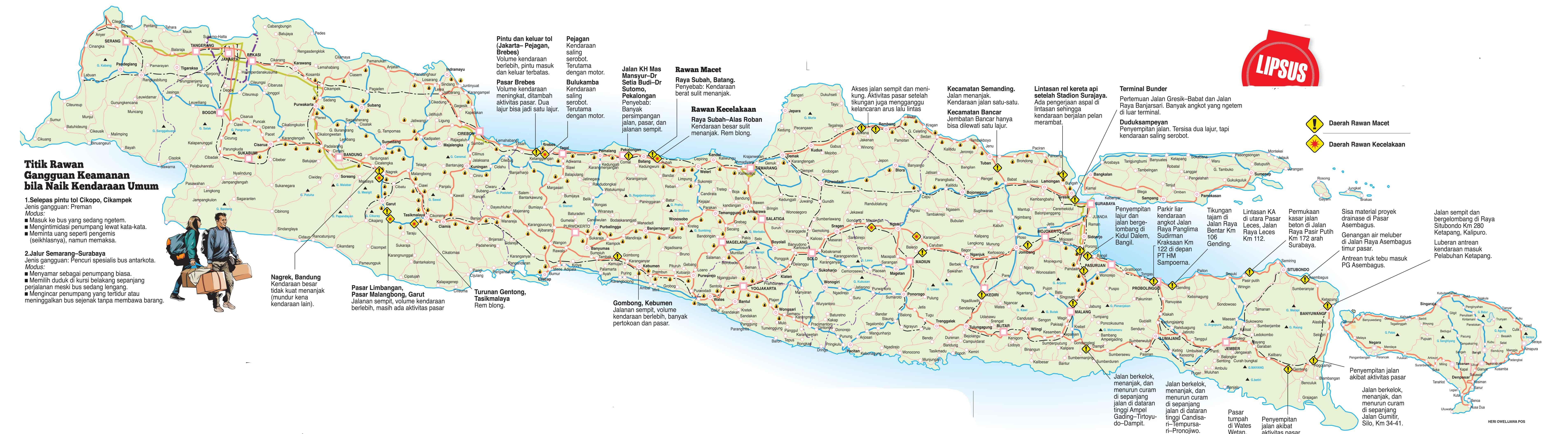 Inilah jalur-jalur vital mudik lebaran di pulau Jawa