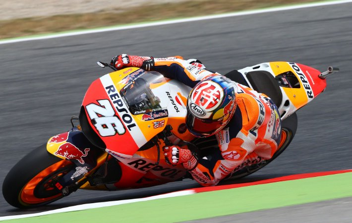 Dani Pedrosa menjadi yang tercepat di FP4 MotoGP Catalunya. Sedangkan Valentino Rossi menunjukkan kebangkitan. Foto via @crash_motogp