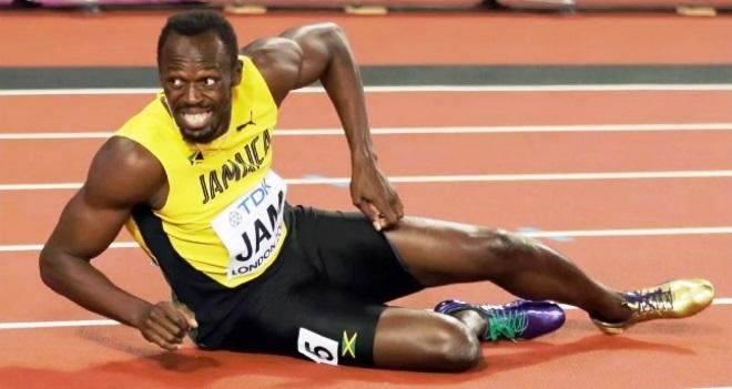 Pelari Jamaika Usain Bolt gagal mempersembahkan emas untuk negaranya setelah alami cidera (espn)