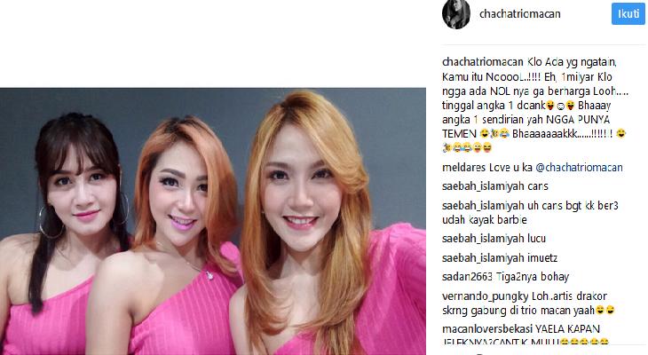 Inilah postingan Chaca Trio Macan yang ditudings ebagai sindiran pada Ayu Ting Ting. Instagram
