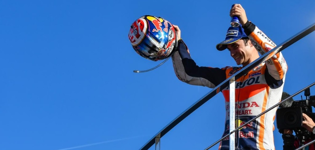 Dani Pedrosa tutup kejuaraan MotoGP musim ini dengan menjadi juara di seri pamungkas (motogp.com)