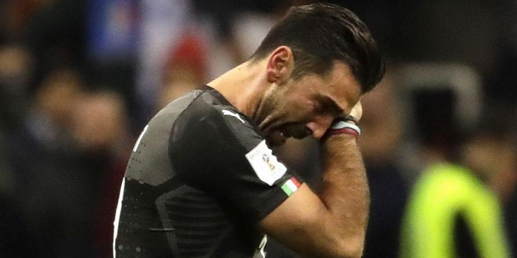 buffon pensiun, timnas italia, italia vs swedia, play off piala dunia 2018, piala dunia 2018