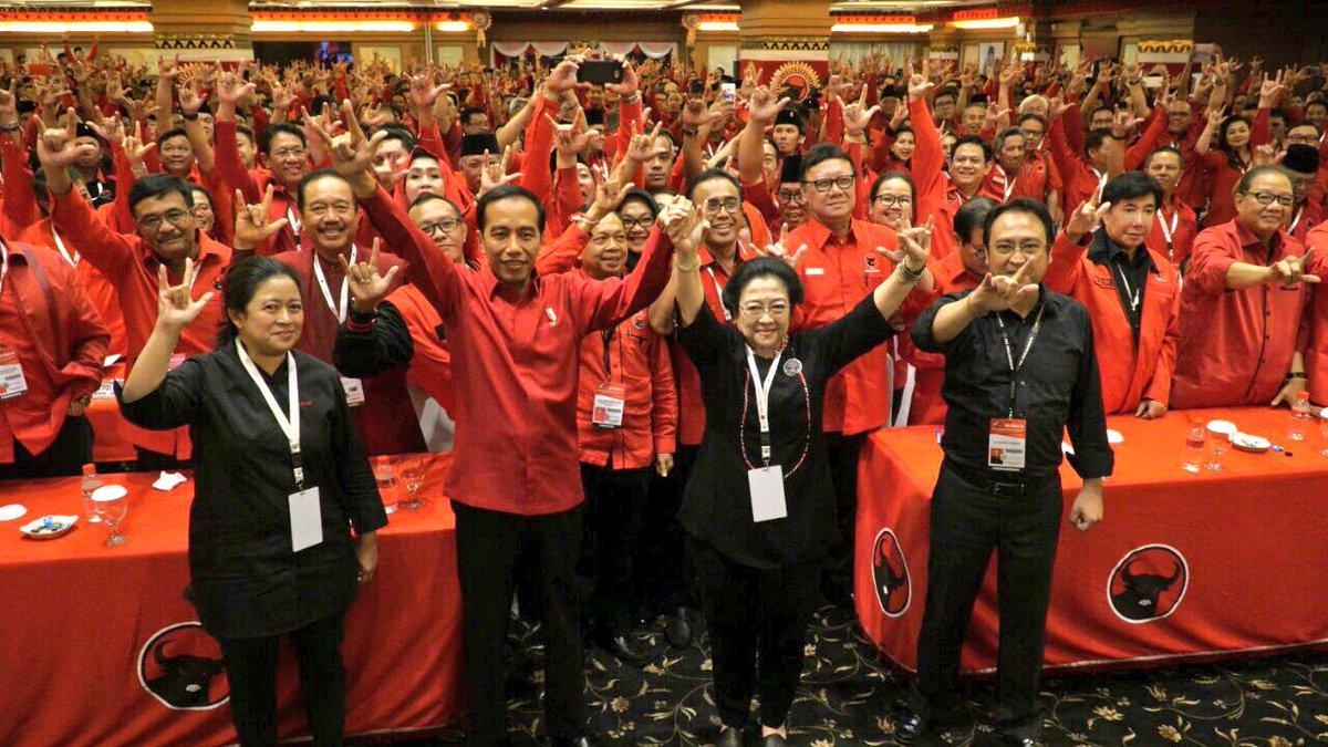 Jokowi resmi kembali diusung PDIP sebagai capres periode 2019-2014@PDI_Perjuangan.