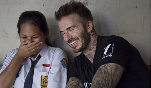 David Beckham bersama Sripun. Foto via instagram