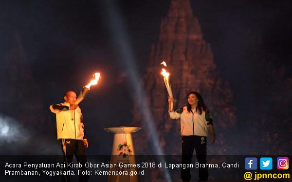 Api obor Asian Games 2018 yang akan diarak keliling Indonesia