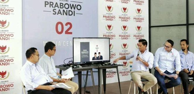 Kubu Prabowo-Sandi paparkan dana kampanye terbaru