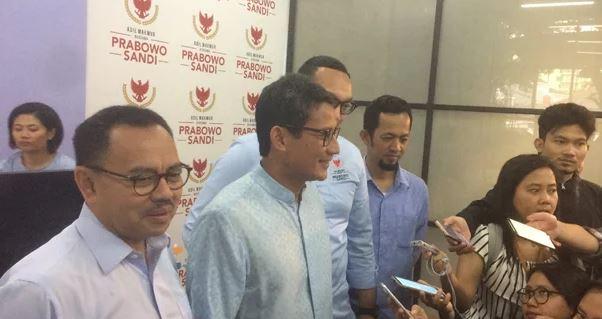 Sandiaga Uno membeberkan dana kampanye di Media Centre Prabowo-Sandi, Senin (31/12/2018)