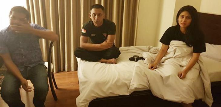 polisi makassar nyabu di hotel