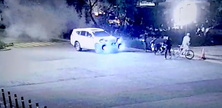 Rekaman CCTV ledakan di dekat lokasi debat Capres 2019