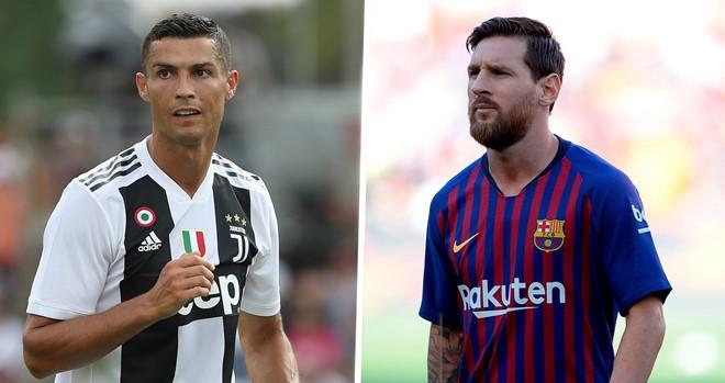 Cristiano Ronaldo (Juventus) dan Lionel Messi (Barcelona), atlet terkaya