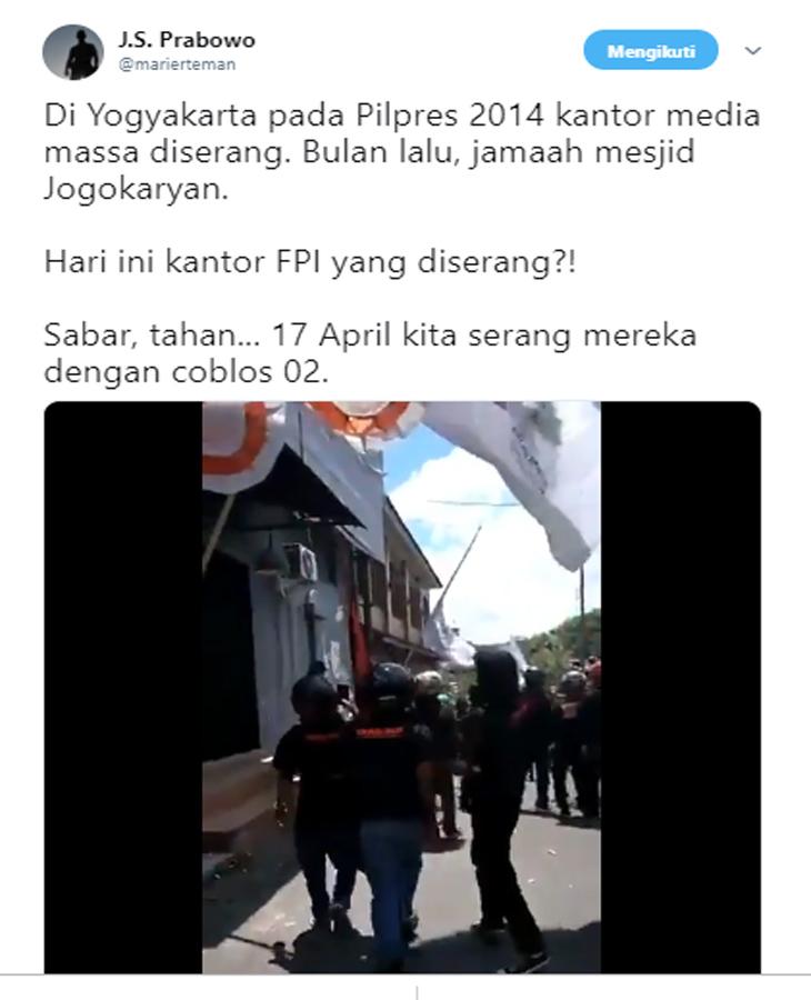 Twitter JS Prabowo