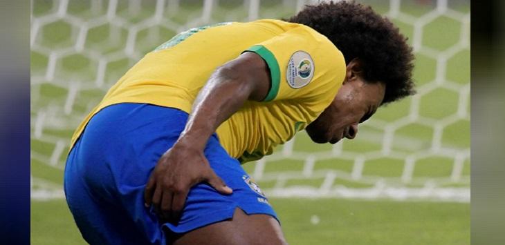 Willian cedera dan dipastikan absen pada final Copa America 2019 kala Brasil menghadapi Peru, Minggu (7/7/2019) malam waktu setempat.