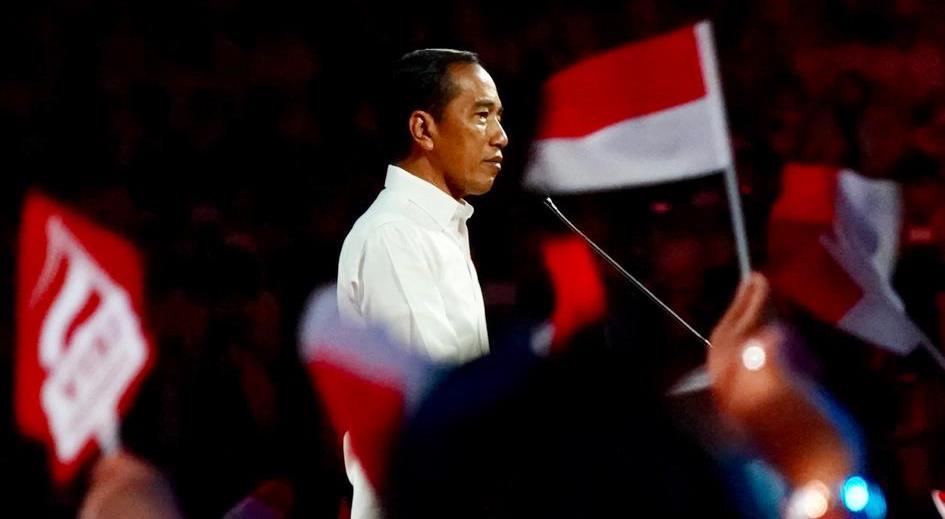 Presiden Jokowi menyampaikan visinya dalam 'Visi Indonesia' di SICC, Sentul, Bogor, Jawa Barat, Minggu (14/7/2019)