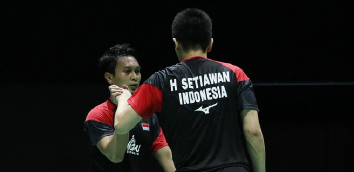 Hendra Setiawan/Mohammad Ahsan. (badminton indonesia), kejuaraan dunia 2019, the daddies, ahsan/hendra, malaysia masters 2020, the daddies