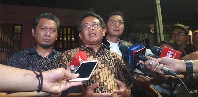 Presiden PKS Sohibul Iman usai menemui Prabowo Subianto di kediamannya, Selasa (22/10/2019). Foto RMOL